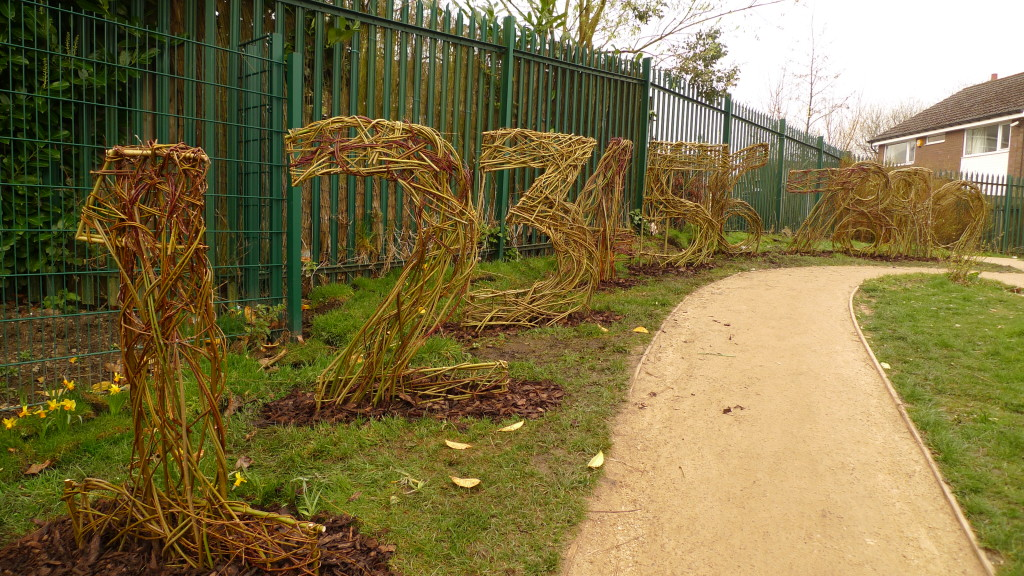 Living willow numbers - St. Hugh's Primary School, Oldham